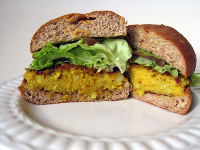Chickpea Burger with Turmeric, Curmin, & Honey – Featured on ...